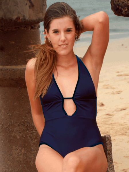 low split front bathing suit - Melody
